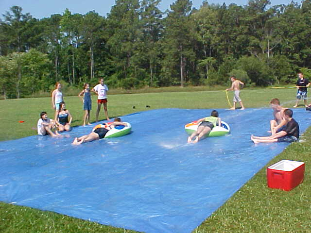 Slip-and-slide-races