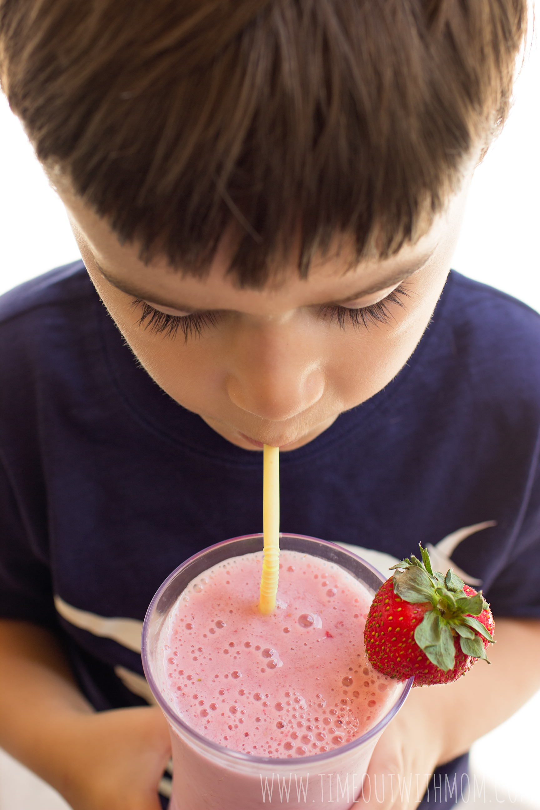 Strawberry Banana Milkshake for Picky Eaters